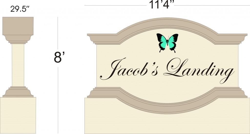 Jacobs Landing #22 Sign