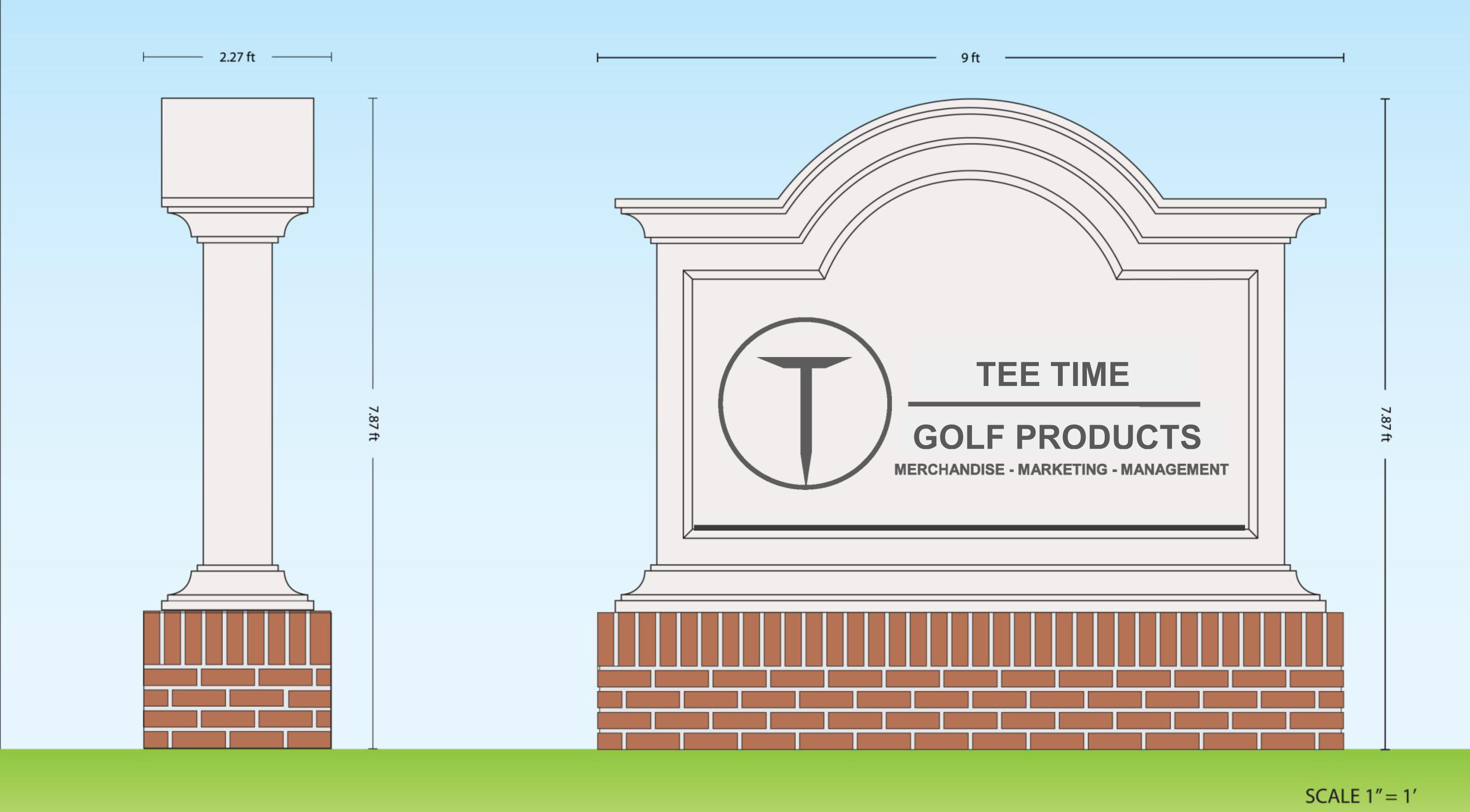 monument signs tee time golf products. Black Bedroom Furniture Sets. Home Design Ideas